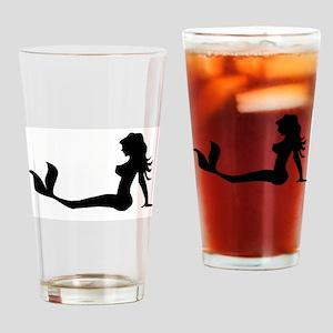 Truckers Mermaid Drinking Glass