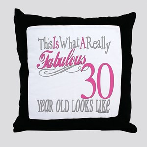 30th Birthday Gifts Throw Pillow