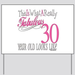 30th Birthday Gifts Yard Sign