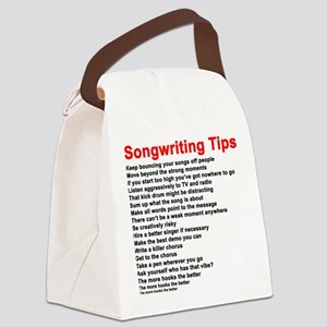 Songwriting Tips Canvas Lunch Bag