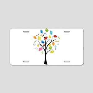 Book knowledge tree Aluminum License Plate