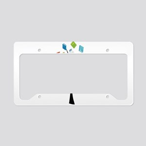Book knowledge tree License Plate Holder