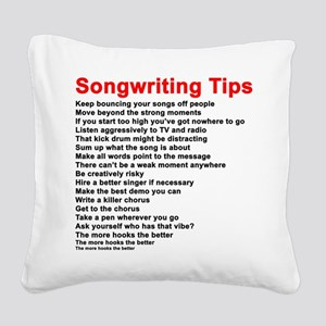 Songwriting Tips Square Canvas Pillow