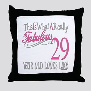 29th Birthday Gifts Throw Pillow