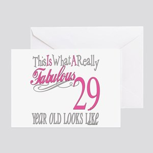 29th Birthday Gifts Greeting Card