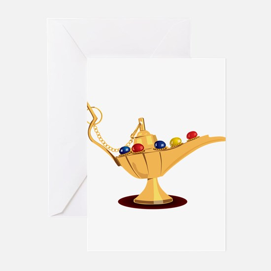 Aladdin lamp design Greeting Cards