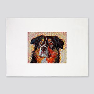 Australian Shepherd: A Portrait in 5'x7'Area Rug