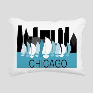 Chicago Sailing Rectangular Canvas Pillow