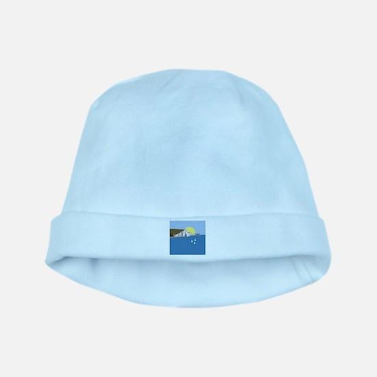 White Cliffs summer baby hat