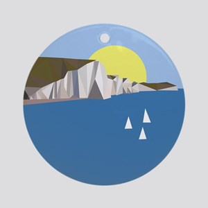 White Cliffs summer Round Ornament