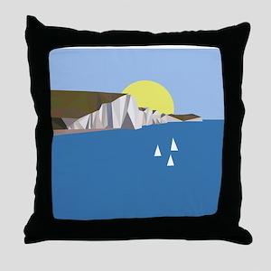 White Cliffs summer Throw Pillow