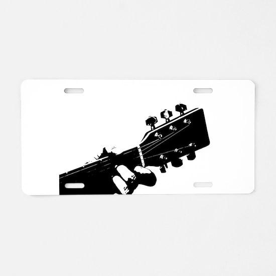 Guitarist Aluminum License Plate