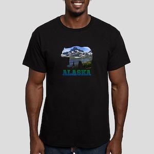 Alaskan Bear Men's Fitted T-Shirt (dark)