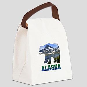 Alaskan Bear Canvas Lunch Bag