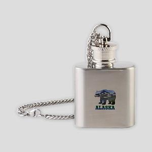 Alaskan Bear Flask Necklace
