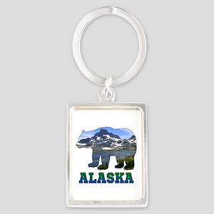 Alaskan Bear Portrait Keychain