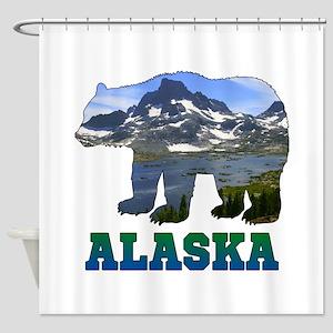 Alaskan Bear Shower Curtain