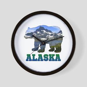 Alaskan Bear Wall Clock