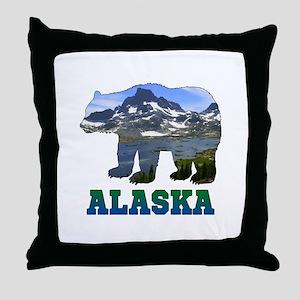 Alaskan Bear Throw Pillow