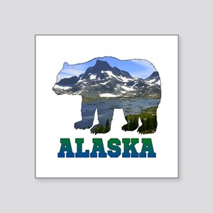 "Alaskan Bear Square Sticker 3"" x 3"""