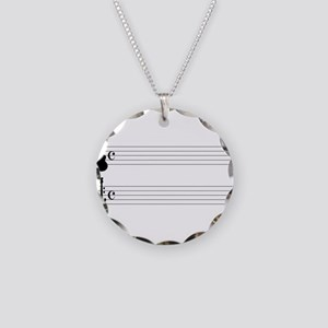 Guitar Music Necklace Circle Charm