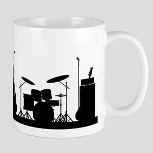 Rock Band Equipment Silhouette Mugs
