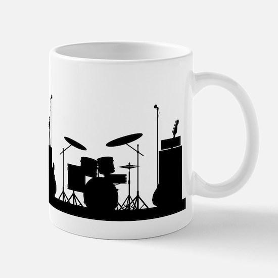 Rock Band Equipment Silhouette Mugs