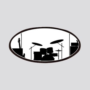 Rock Band Equipment Silhouette Patch