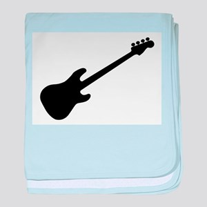 Bass Guitar Silhouette baby blanket