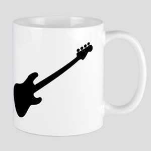Bass Guitar Silhouette Mugs
