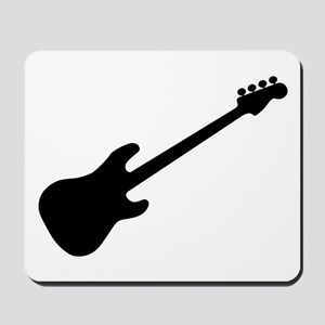 Bass Guitar Silhouette Mousepad
