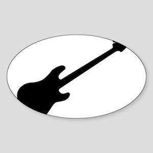 Bass Guitar Silhouette Sticker