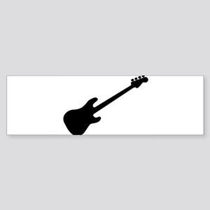 Bass Guitar Silhouette Bumper Sticker