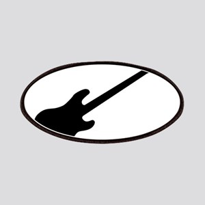 Bass Guitar Silhouette Patch