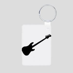 Bass Guitar Silhouette Keychains