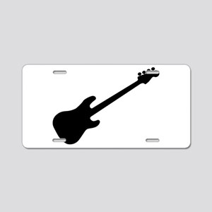 Bass Guitar Silhouette Aluminum License Plate