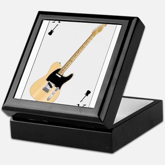 Guitar Playing Card Keepsake Box