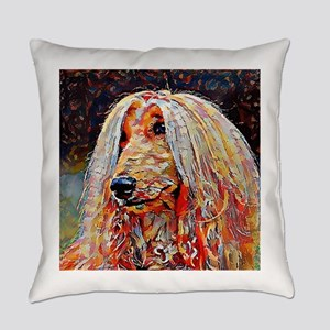 Afghan Hound: A Portrait in Oil Everyday Pillow