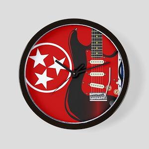Tennessee Guitar Wall Clock