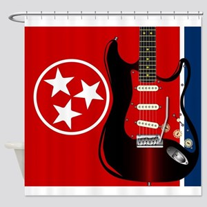 Tennessee Guitar Shower Curtain