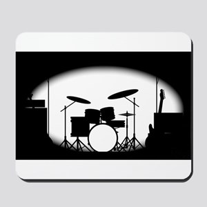 Half Tone Rock Band Poster Mousepad