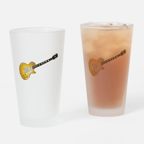 Gold Top Guitar Drinking Glass