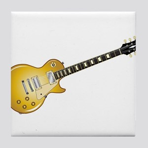 Gold Top Guitar Tile Coaster