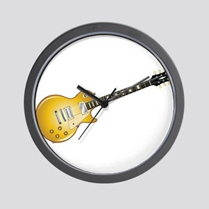 Gold Top Guitar Wall Clock