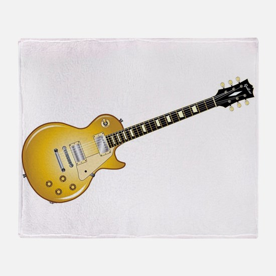 Gold Top Guitar Throw Blanket