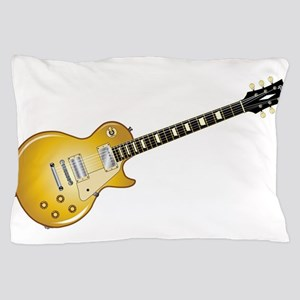 Gold Top Guitar Pillow Case
