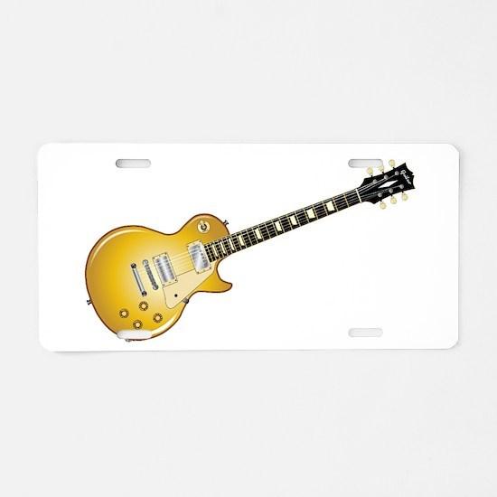 Gold Top Guitar Aluminum License Plate