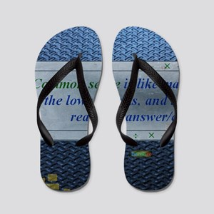 10th Quote; Common sense is like math.. Flip Flops