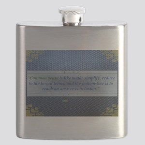 10th Quote; Common sense is like math..... Flask