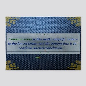 10th Quote; Common sense is like ma 5'x7'Area Rug